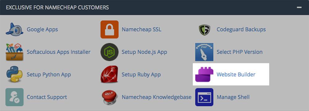 cPanel - Website builder