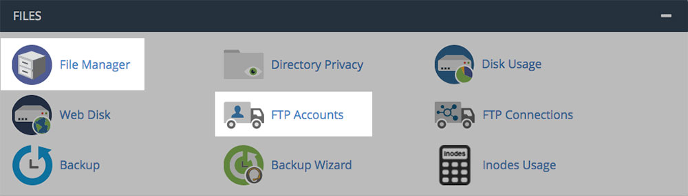 cPanel - FTP